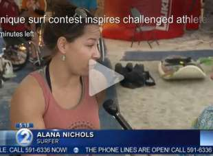 Unique surf contest inspires challenged athletes
